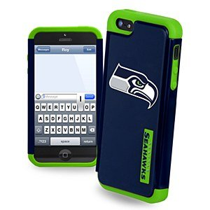 Forever Collectibles Seattle Seahawks Rugged Dual Hybrid Apple iPhone 5 & 5S Case
