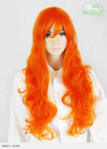 スキップウィッグ 魅せる シャープ 小顔に特化したコスプレアレンジウィッグ ドーリィミディ ネオンオレンジ