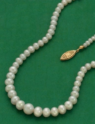 3.5-8mm Cultured Freshwater Pearls Necklace, 17 inch, 14/20 Gold Filled Clasp