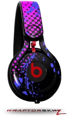 Halftone Splatter Blue Hot Pink Decal Style Skin (Fits Genuine Beats Mixr Headphones - Headphones Not Included)