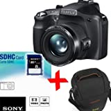 Bundle: Fuji Digitalkamera SL300 +8 GB + Tasche (Fujifilm Finepix SL300 schwarz, 720p HD-Video, 14MP 30xOptical Zoom 3 