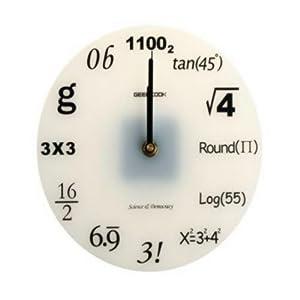Cool Clocks Math Scientific Numbers Wall