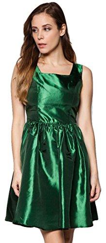 [MOJONET Women's Taffeta Retro Cocktail Dress Medium Green] (1980s Dress)