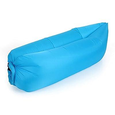 Docooler Outdoor Portable Bequeme Aufblasbare Liege Luft Schlafsack Polyester Air Schlaf Sofacouch Camping Strand die Beste Wahl für die Freizeit von Docooler bei Gartenmöbel von Du und Dein Garten
