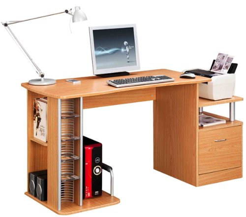 Large COMPUTER DESK in Oak with FREE EXPEDITED DELIVERY (PC41o)