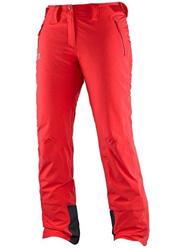 Salomon Iceglory W - Pantaloni da donna, colore Rosso, taglia L / S