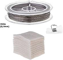 RBA Juego de accesorios de evaporador, algodón bio japonés + cable autoenrollable
