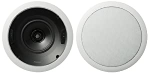 Pioneer S-IC651-LR CST Series 6.5-Inch Circular In-Ceiling Speaker (Pair) (Discontinued by Manufacturer)