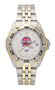 Detroit Pistons Mens All Star Watch Stainless Steel Bracelet by Logo Art