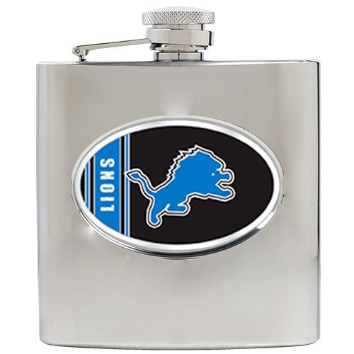 Nfl Detroit Lions 6Oz Stainless Steel Hip Flask front-618234