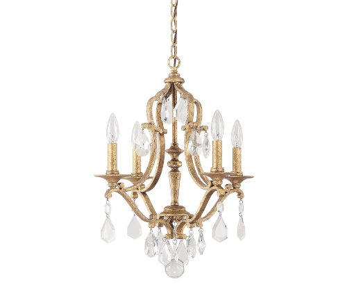 Capital Lighting 4184Ag-Cr Blakely 4-Light Chandelier, Antique Gold Finish With Clear Crystal Accents front-969510