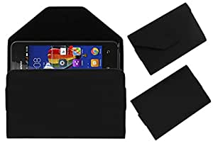 Acm Premium Pouch Case For Lenovo Rocstar A319 Flip Flap Cover Holder Black