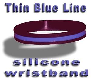 Thin Blue Line Silicone Wristband