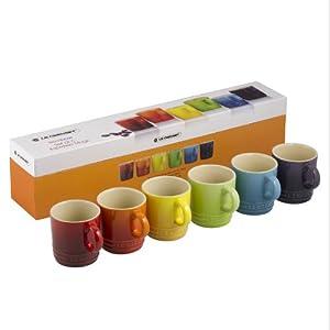 Le Creuset Stoneware Rainbow Espresso Mug Gift Set - Multi-Colour