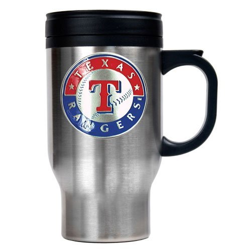 MLB Texas Rangers Stainless Steel Travel Mug (Primary Logo) at Amazon.com