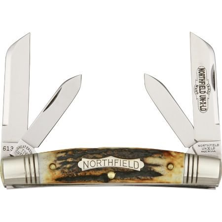 Great Eastern Cutlery 613409 Northfield Series - Congress Pocket Knife With Burnt Stag Handles