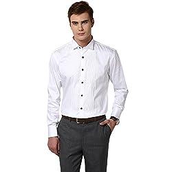 GIVO Gold Class White Tuxedo Shirt