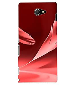 ColourCraft Pink Feather Design Back Case Cover for SONY XPERIA M2