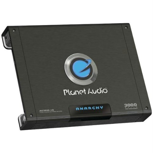 Planet Audio AC3000.1D 3000w Mono Block Amplifier with Subwoofer Control Knob 1 Ohms Stable Free Amp Wiring Kit (Kia Rio Ac Knob compare prices)