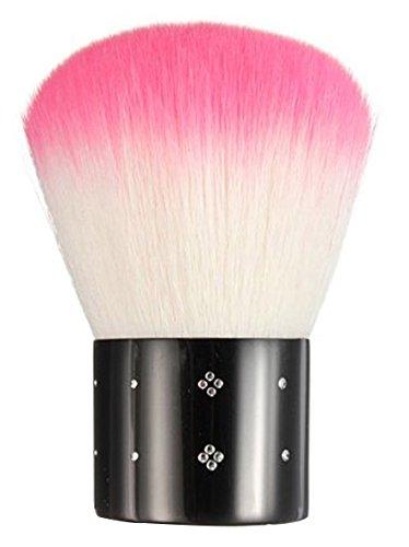 FOONEE Mini Strasssteine Kosmetik Nagel Art Staubfilter Gesichtsbürste, Rosa und Weiß
