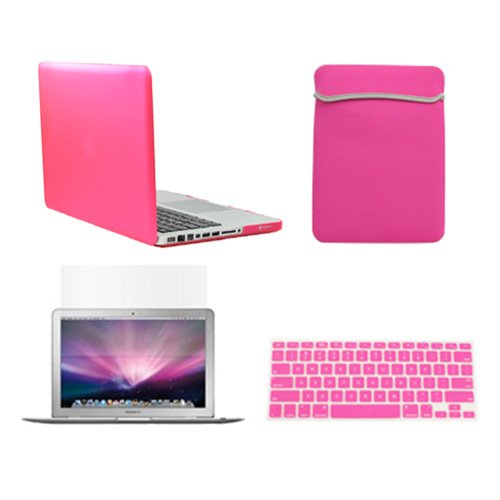 """Topcase Macbook Pro 13"""" 13-Inch (A1278 / With Or Without Thunderbolt) 4 In 1 Bundle - Rubberized Hard Case Cover + Matching Color Soft Sleeve Bag + Silicone Keyboard Cover + Lcd Hd Clear Screen Protector - Not For Retina Display - With Topcase Mouse Pad ("""