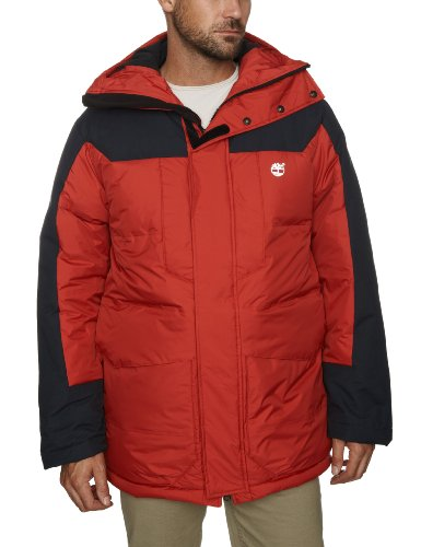 Timberland Galehead Technical Down Parka Men's Coat Chill Red Large