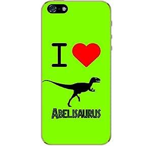 Skin4gadgets I love Abelisaurus Colour - Olive Drab Phone Skin for IPHONE 5S