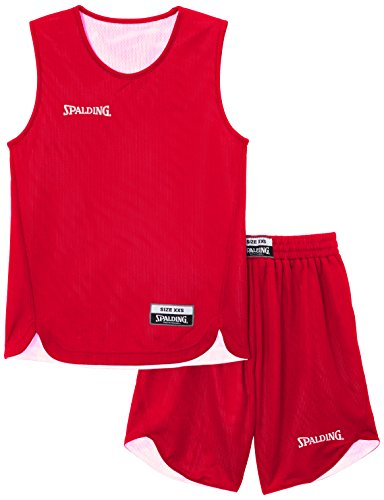 Spalding Teamsport Doubleface - Completo sportivo Unisex - bambini, Rosso (Rot/Weiß), XXS/128