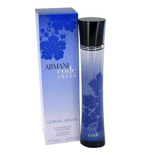 Armani Code Sheer for Women Eau de Toilette Spray 2.5 fl oz (75 ml)