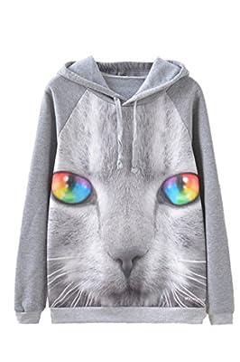 Lacostew Unisex Funny Digital Print Fleece Pullovers Hoodie Sweatshirts