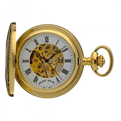 Mount Royal Pocket Watch B6 Gold Plated Half Hunter