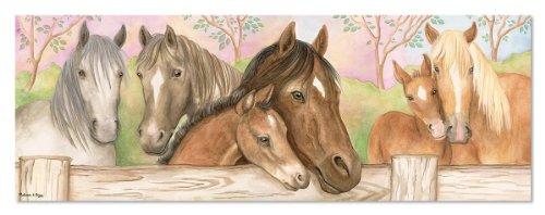 Melissa & Doug Horse Corral Floor Puzzle (48 Pieces) - 1