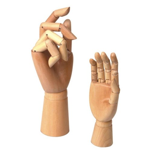 2 Assorted Size Large & Small Wooden Hand Artist Drawing Manikin Jointed Mannequin (Small Drawing Mannequin compare prices)
