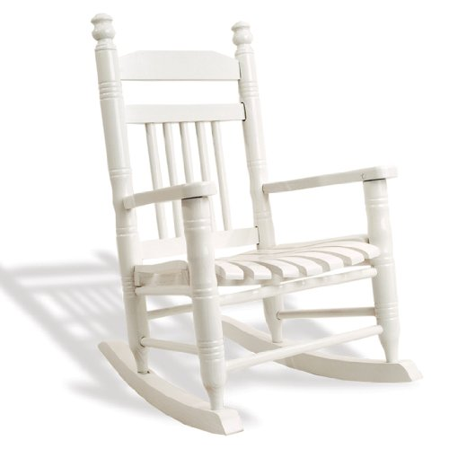... Country Store Slat Child Rocking Chair - Pure White : Rocking Chairs