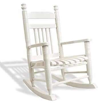 Cracker Barrel Old Country Store Slat Child Rocking Chair - Pure White ...
