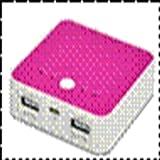 FSC 3600mAhリチウムバッテリー ピンク(iPhone、iPod、ARROWS、XPERIA、AQUOS、MEDIAS、GALAXY、REGZA、LUMIXに対応)