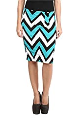Mayra Women's Cotton Stretch Pencil Skirt(1602B11296_XL Green )