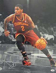 KYRIE IRVING SIGNED AUTHENTIC 16X20 PHOTO CLEVELAND CAVALIERS PSA DNA T93399 by KLF Sports