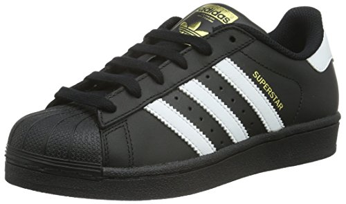 adidas Originals - Superstar Foundation, Sneakers per bimbi, Core Black/Ftwr White/Core Black, 35 1/2