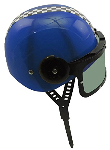 Childrens Plastic Racing Stock Car Driver Costume Helmet BLUE