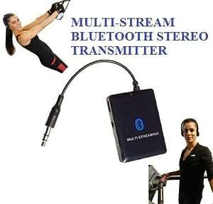 KOKKIA A10m (negro): MULTI-STREAM 3,5 mm Transmisor/Separador Estéreo Universal EDR con Bluetooth (puede fluir a la vez en 2 receptores con EDR) sirve en iPod/ iPhone/ iPad/ iPod Touch/ iPod Shuffle, lectores de e-Book, Sandisk Sansa, Zune, Tabletas, SONY PSP, Nintendo DS, MP3/MP4, PC, PDA, cualquier aparato con un jack de 3,5mm