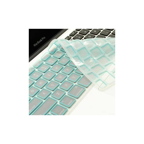 TopCase New Arrival LIGHT BLUE Silicone Keyboard Cover Skin for Macbook Unibody Whtie 13 Inch/Macbook Pro Aluminum Unibody 13, 15, 17 Inch with or without Retina Display/Macbook Air 13 Inch/Old Macbook White 13 Inch/Wireless Keyboard with Logo Mouse Pad