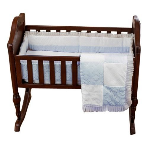 Baby Doll Bedding King Port-a-Crib Set, Blue