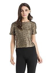 Kazo Women's Body Blouse Shirt (108004BLACKCl)
