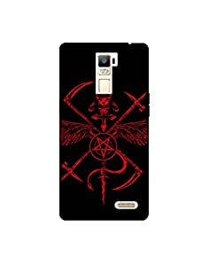 OPPO R7 PLUS nkt-04 (82) Mobile Case by Mott2 - Devil Sign - For Strong hearts (Limited Time Offers,Please Check the Details Below)