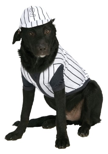 Baseball Player Pet Costume, Medium - 1