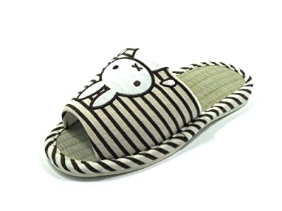KW3102T- Bamboo Tatami indoor House Slippers With Bunny available four sizes in variety colors