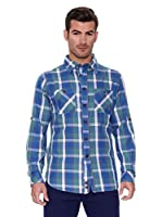 New Caro Camisa Hombre Tomillo (Azul)