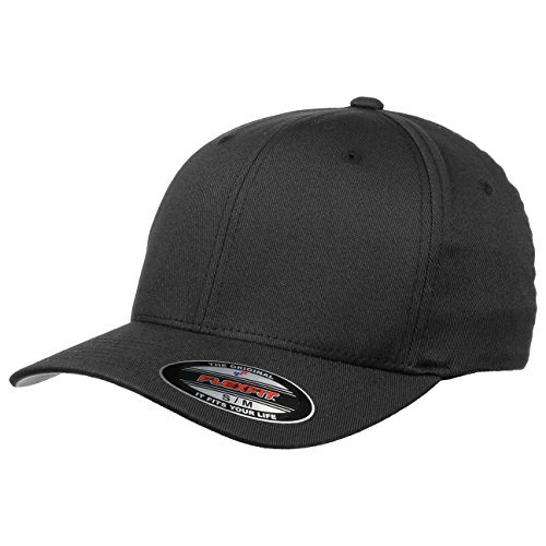 Originale Flexfit Cappellino,nero (Misura L/XL), sottopiega argento grigio
