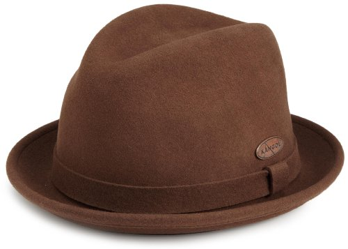 Kangol Men'S Lite Felt Player Hat,Tobacco,Medium